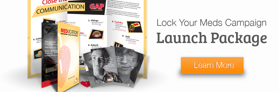 Lock Your Meds Campaign Launch Package Banner